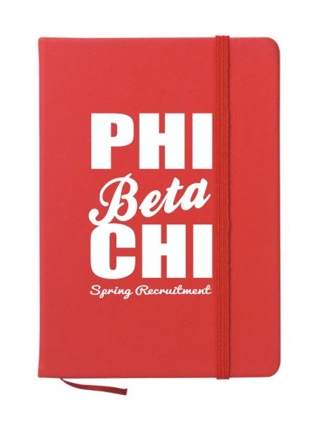Phi Beta Chi Cursive Impact Notebook