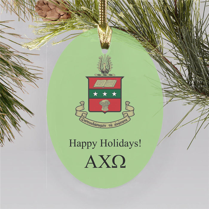 Alpha Chi Omega Color Crest Ornament