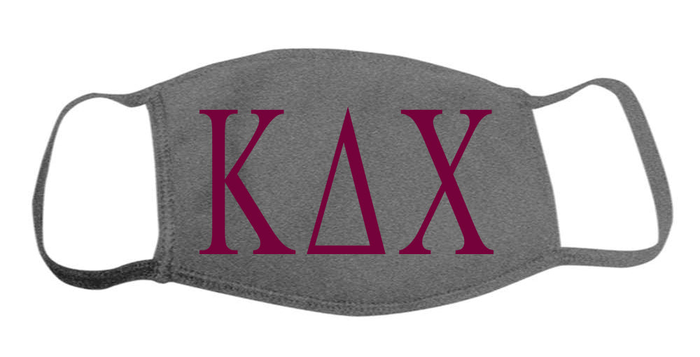 Kappa Delta Chi Face Mask With Big Greek Letters