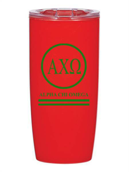 Alpha Chi Omega Circle Stripes 19 oz Everest Tumbler