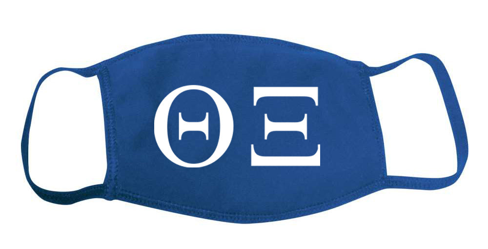 Theta Xi Face Mask With Big Greek Letters