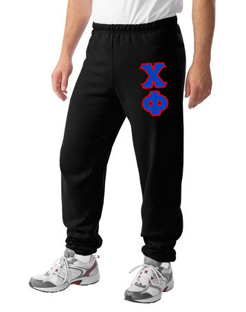 Chi Phi Sweatpants with Sewn-On Letters