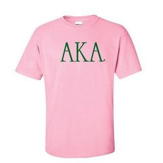 Alpha Kappa Alpha University Letter T-Shirt