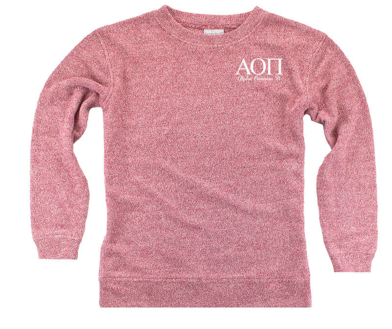 Alpha Omicron Pi Lettered Cozy Sweater