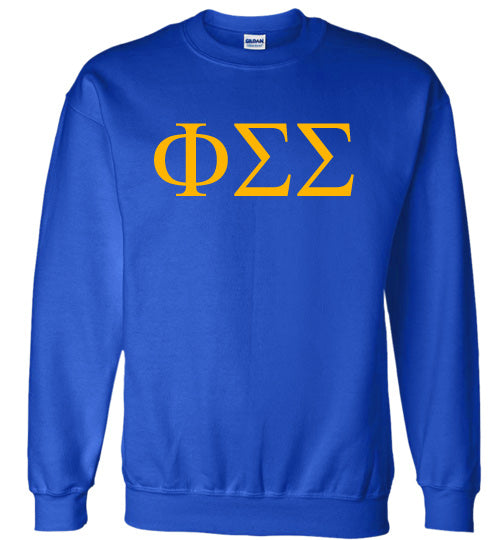 Phi Sigma Sigma World Famous Lettered Crewneck Sweatshirt