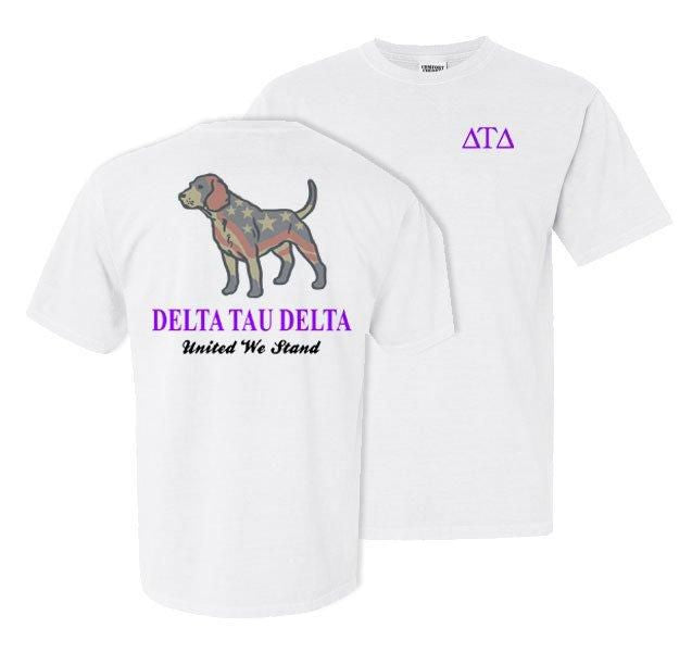 Delta Tau Delta Stand Tall Comfort Colors Heavy Tee