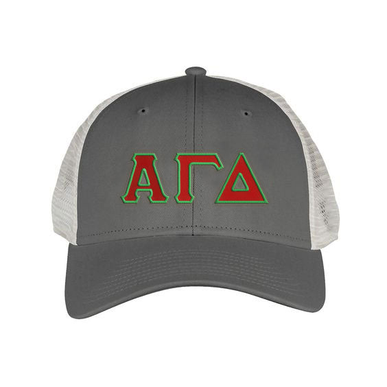 Alpha Gamma Delta Greek Trucker Cap