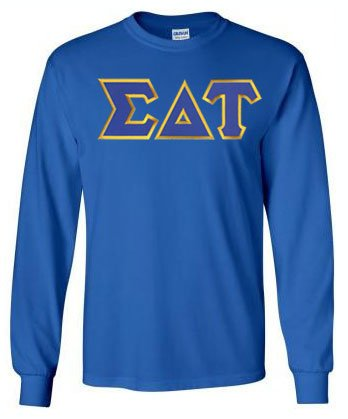 Sigma Delta Tau Long Sleeve Greek Lettered Tee