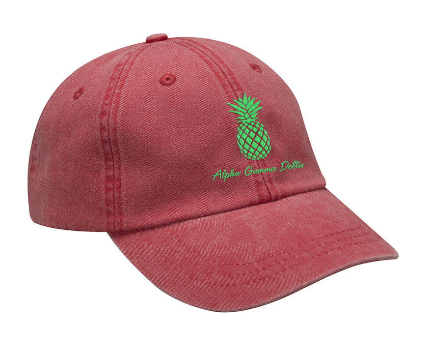 Alpha Gamma Delta Pineapple Embroidered Hat