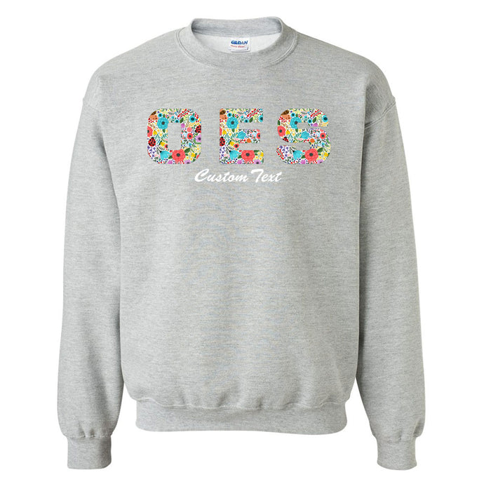 Order Of The Eastern Star Crewneck Letters Sweatshirt with Custom Embroidery