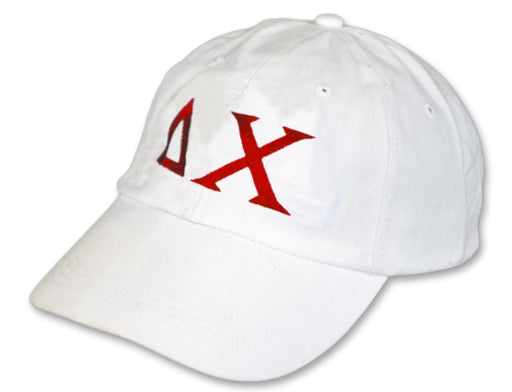 Delta Chi Greek Letter Embroidered Hat