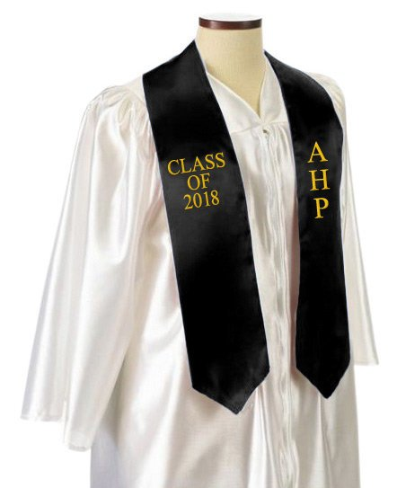 Alpha Eta Rho Classic Colors Embroidered Grad Stole