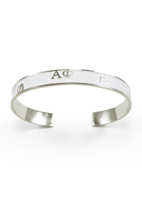 Alpha Phi Bangle Bracelet