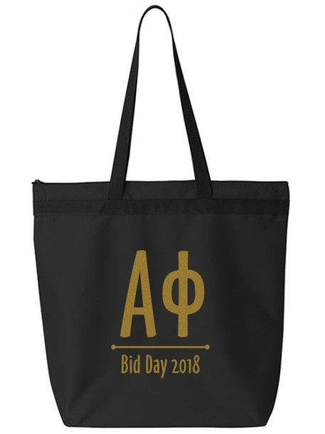 Alpha Phi Oz Letters Event Tote Bag