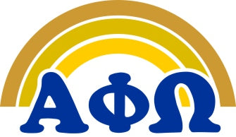 Alpha Phi Omega End of The Rainbow Sorority Decal