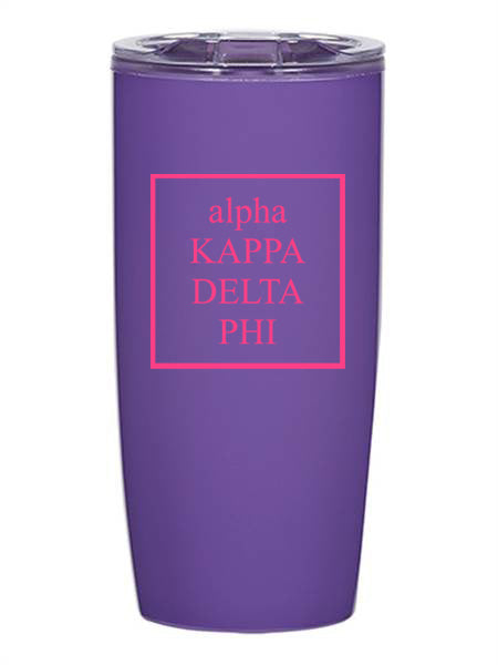 Alpha Kappa Delta Phi Box Stacked 19 oz Everest Tumbler