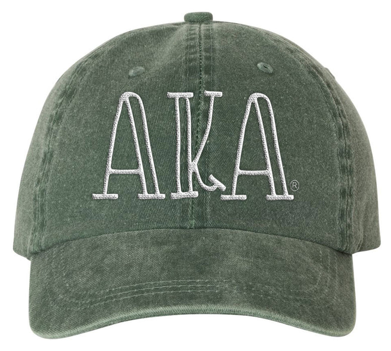 Alpha Kappa Alpha Green Sorority Greek Carson Embroidered Hat