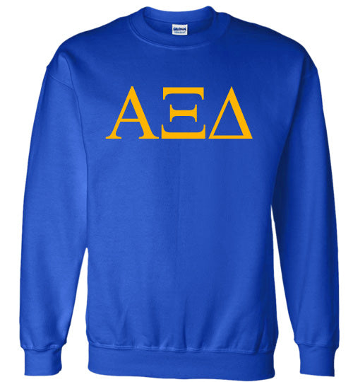 Alpha Xi Delta World Famous Lettered Crewneck Sweatshirt
