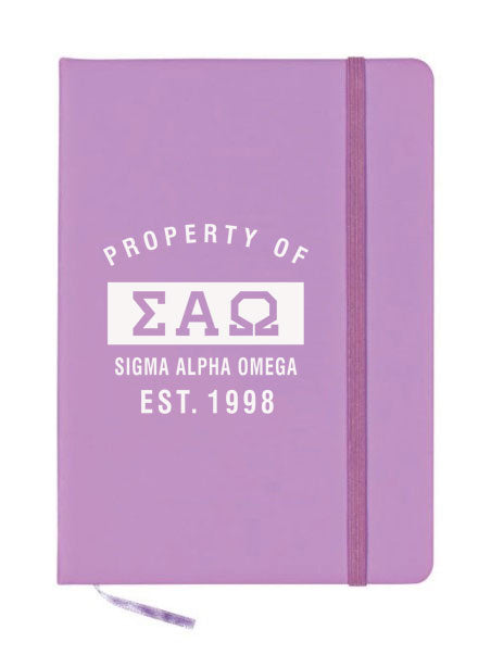 Sigma Alpha Omega Property of Notebook