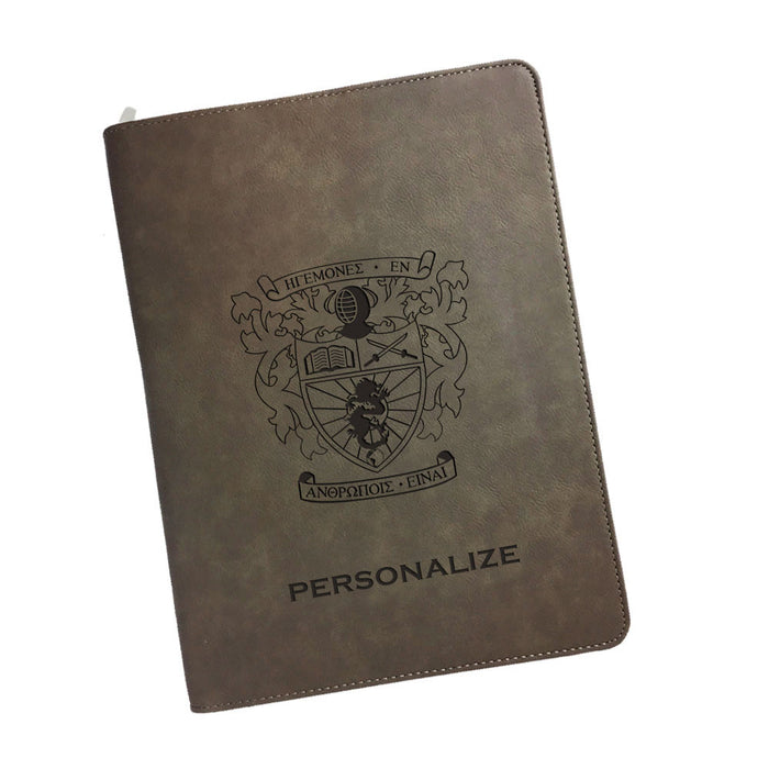 Lambda Phi Epsilon Leatherette Portfolio with Notepad