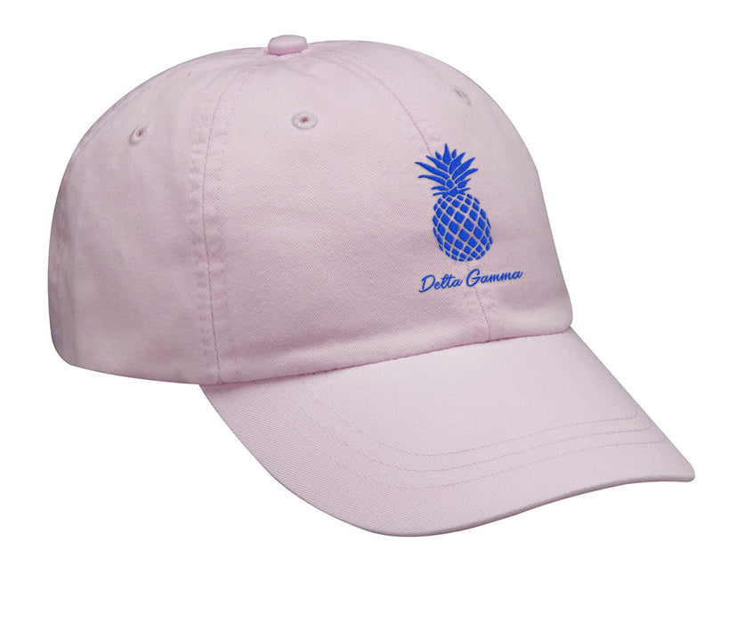 Delta Gamma Pineapple Embroidered Hat