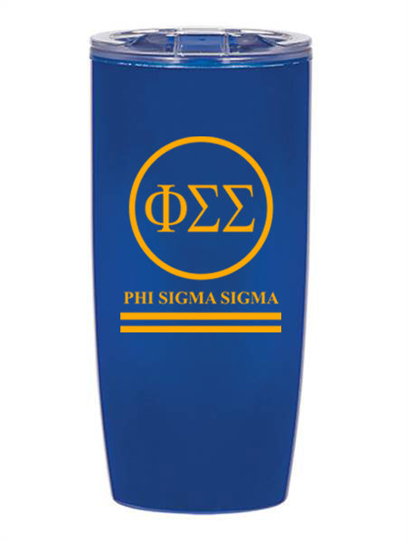 Phi Sigma Sigma Circle Stripes 19 oz Everest Tumbler