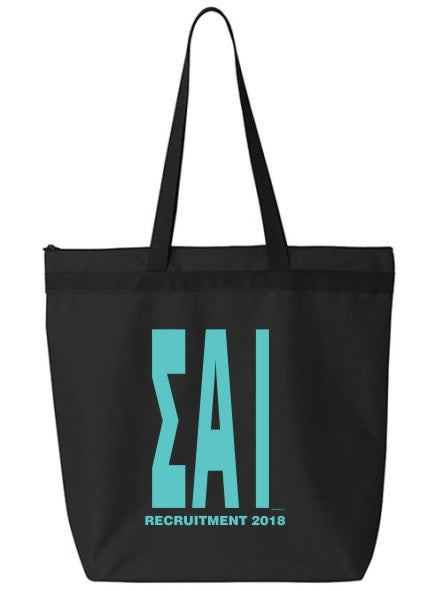 Sigma Alpha Iota Impact Letters Zippered Poly Tote