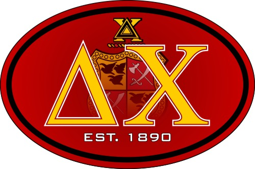 Delta Chi Color Oval Decal
