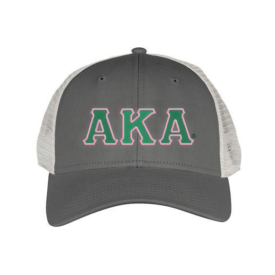 Alpha Kappa Alpha Greek Trucker Cap