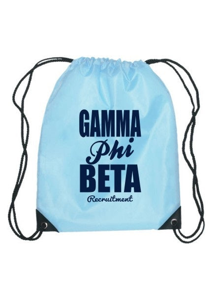 Gamma Phi Beta Cursive Impact Sports Bag