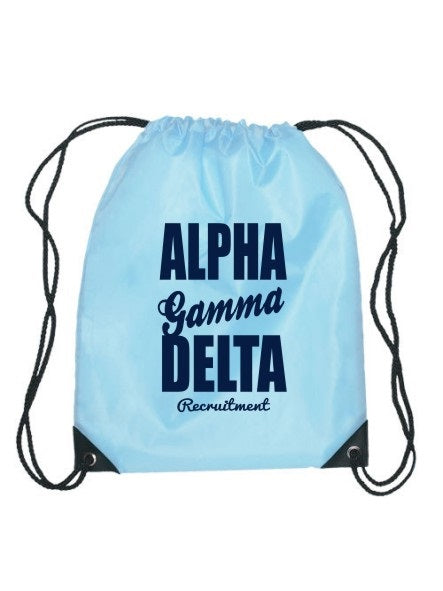 Alpha Gamma Delta Cursive Impact Sports Bag