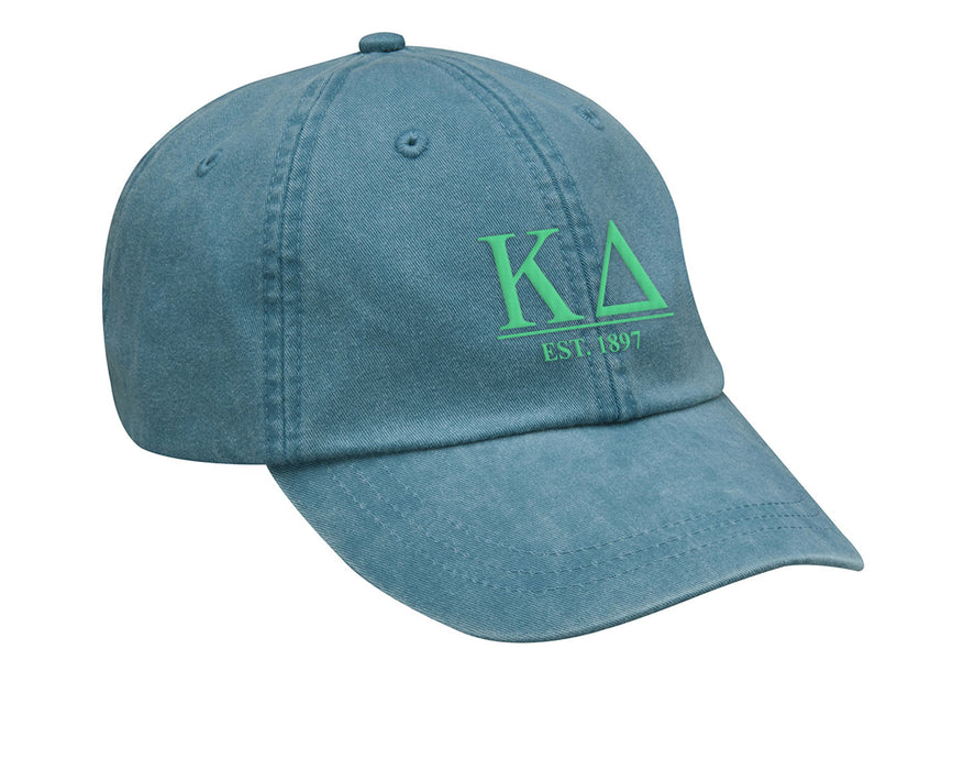 Kappa Delta Letters Year Embroidered Hat