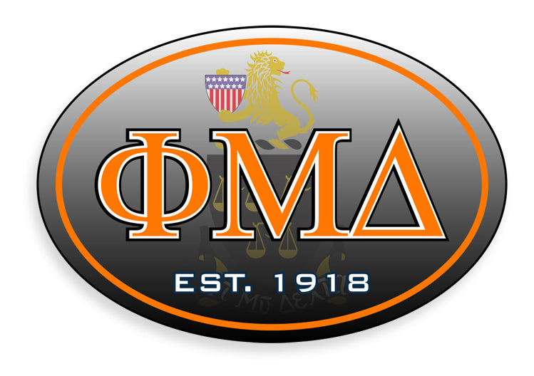 Phi Mu Delta Color Oval Decal Color Oval Decal