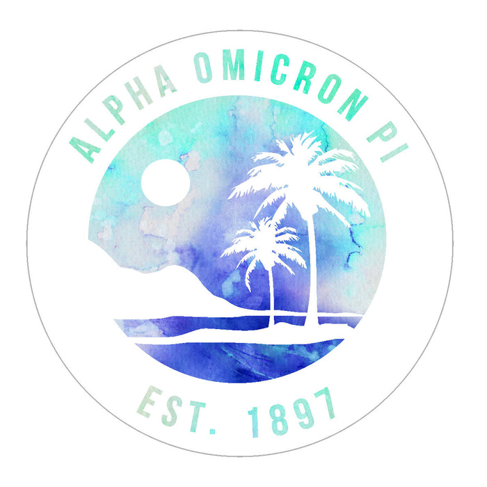 Alpha Omicron Pi Oasis Sticker