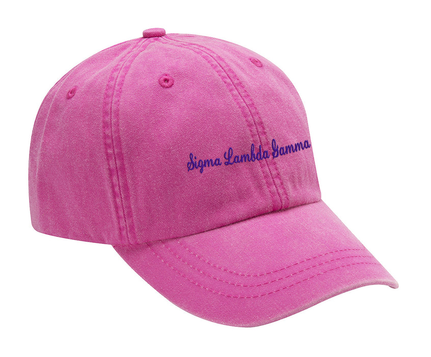 Sigma Lambda Gamma Cursive Embroidered Hat