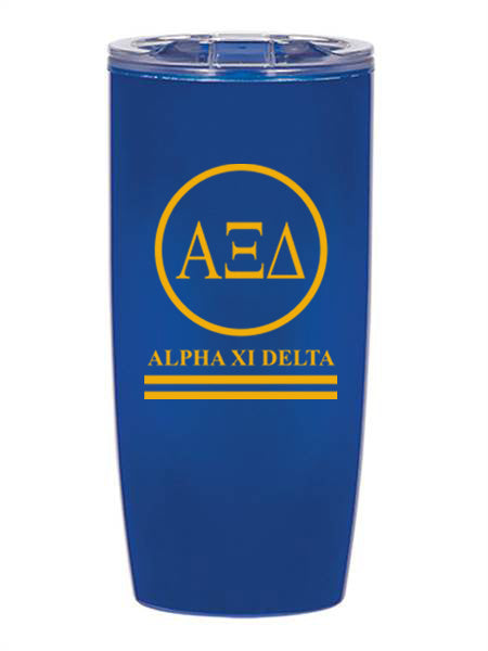 Alpha Xi Delta Circle Stripes 19 oz Everest Tumbler