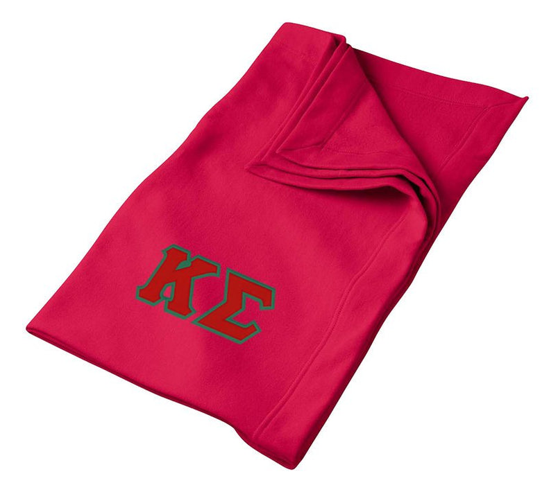 Kappa Sigma Greek Twill Lettered Sweatshirt Blanket