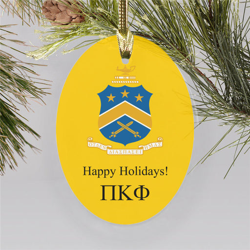 Pi Kappa Phi Color Crest Ornament