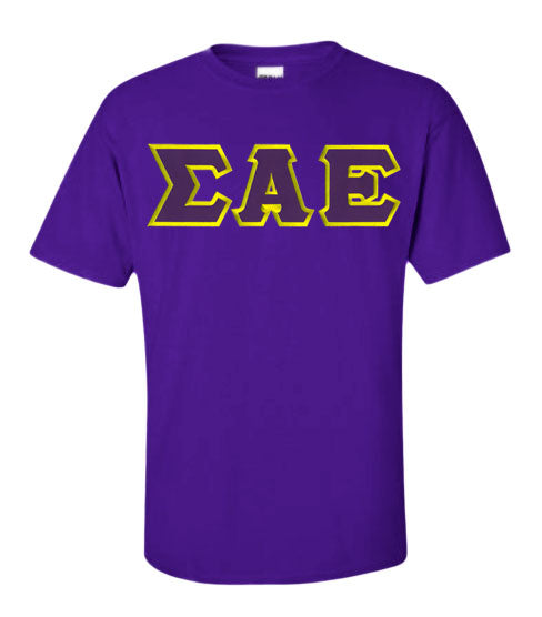 Sigma Alpha Epsilon Lettered T Shirt