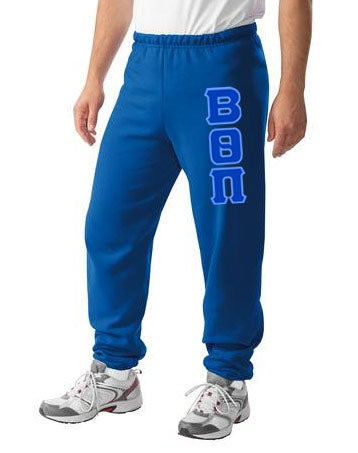 Beta Theta Pi Sweatpants with Sewn-On Letters