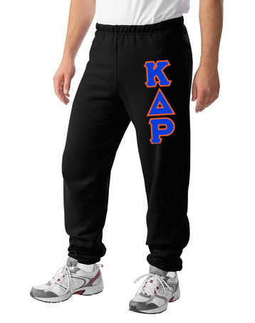 Kappa Delta Rho Sweatpants with Sewn-On Letters