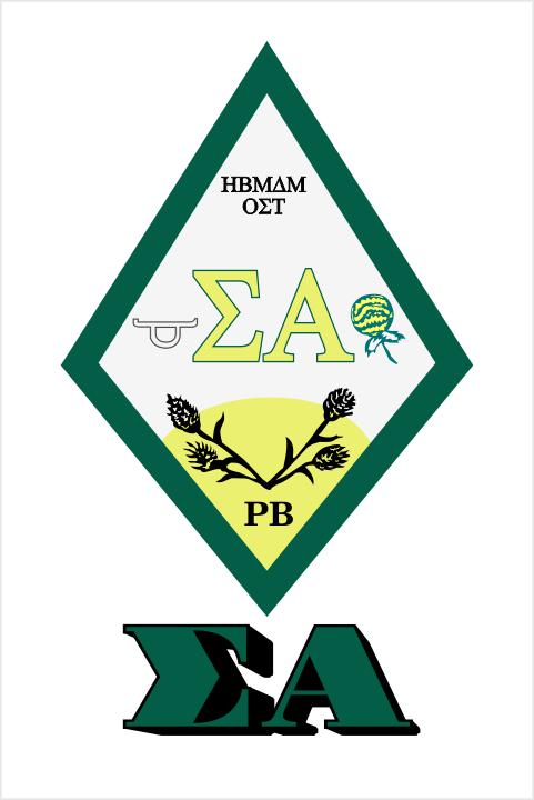 Sigma Alpha Crest Decal