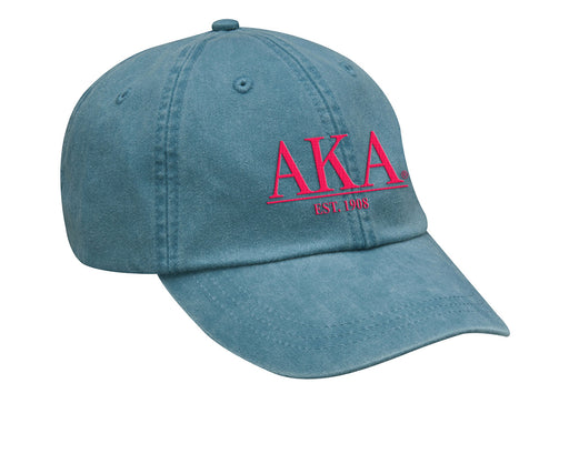Alpha Kappa Alpha Letters Year Embroidered Hat