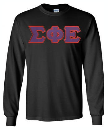 Sigma Phi Epsilon Long Sleeve Greek Lettered Tee