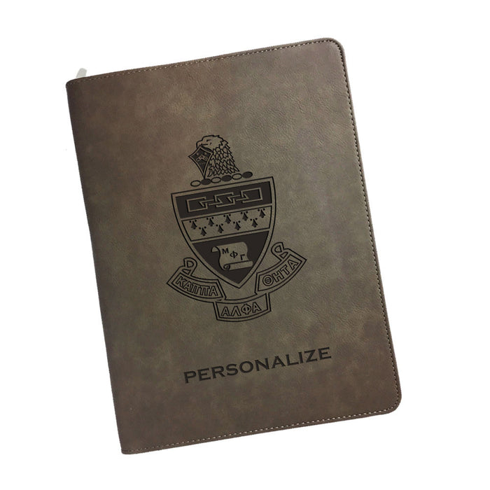 Kappa Alpha Theta Leatherette Portfolio with Notepad