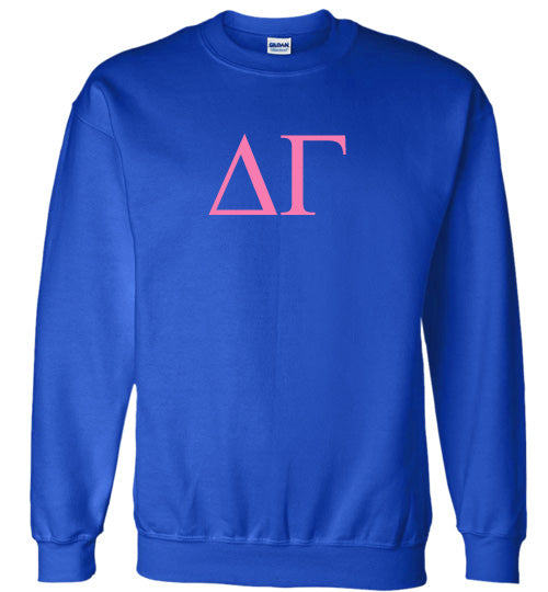 Delta Gamma World Famous Lettered Crewneck Sweatshirt