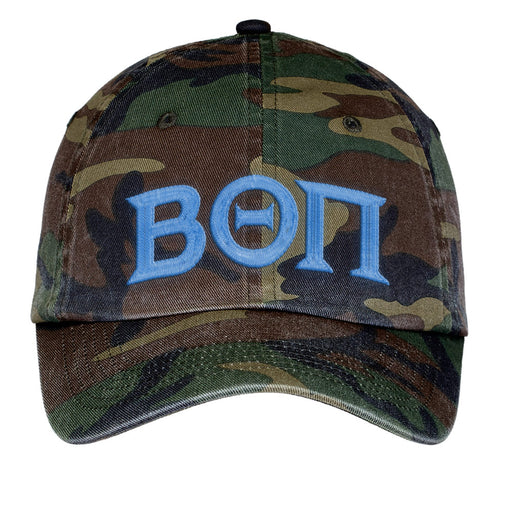 Beta Theta Pi Letters Embroidered Camouflage Hat