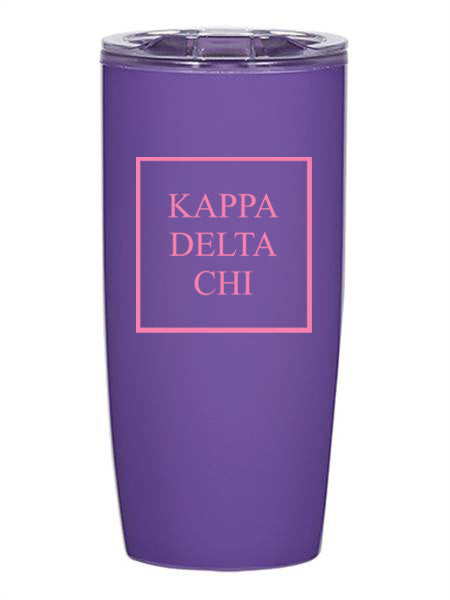 Kappa Delta Chi Box Stacked 19 oz Everest Tumbler
