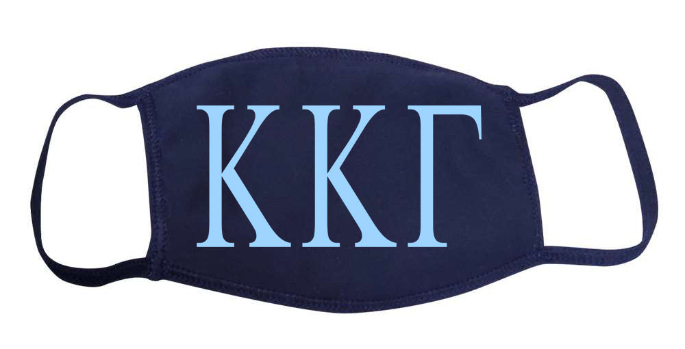 Kappa Kappa Gamma Face Mask With Big Greek Letters