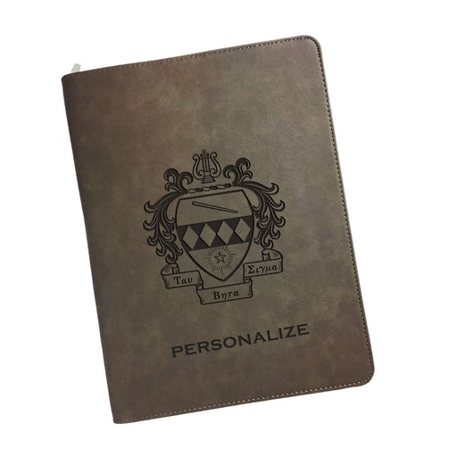 Tau Beta Sigma Leatherette Portfolio with Notepad